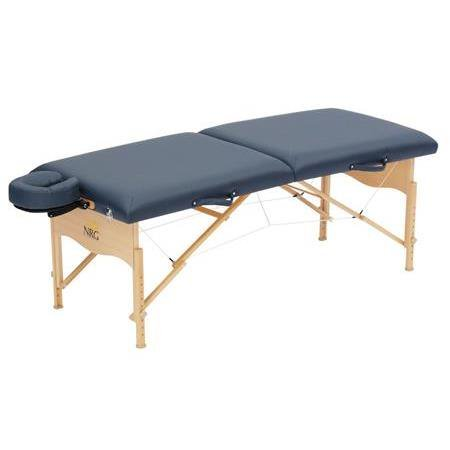 Chi Massage Portable Table Package by NRG - Lightweight, Folding Massage Therapy Table - Ultra Comfortable - Made of Durable White Oak - Premium Headrest with Cushion, Carry Case - Color Burgundy