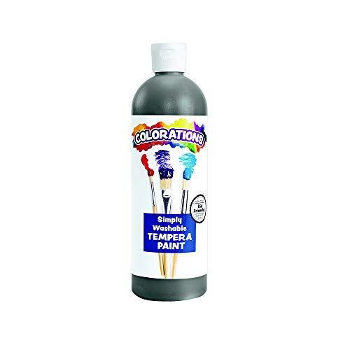 Colorations Washable Tempera Paint, 16 fl oz, Black, Non Toxic, Vibrant, Bold, Kids Paint, Craft, Hobby, Fun, Art Supplies