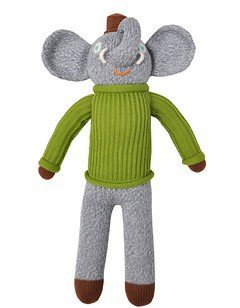 Blabla Hercule The Elephant Plush Doll - Knit Stuffed Animal for Kids. Cute, Cuddly & Soft Cotton Toy. Perfect, Forever Cherished. Eco-Friendly. Certified Safe & Non-Toxic.