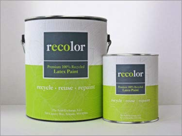 RECOLOR Paint 100% Recycled Interior Latex Paint Wall Finish, 1 Quart, Interior - Canvas