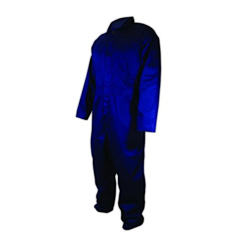 Magid Glove & Safety 1850-XXXL Magid 7 oz. Polyester/Cotton Blended Coveralls, 27x36, Navy, 3XL
