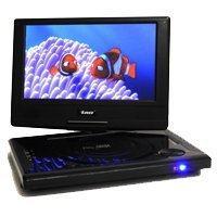 Orei DVD-P901 9-Inch Swivel Screen Multi Region Free Portable DVD Player - 4.5 Hour Long Battery Life - USB/SD Card Input