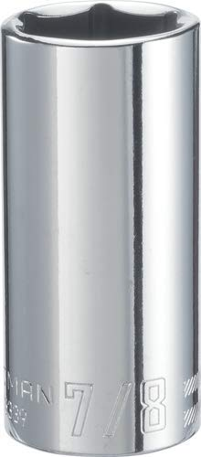 CRAFTSMAN Deep Socket, SAE, 3/8-Inch Drive, 7/8-Inch, 6-Point (CMMT43339)