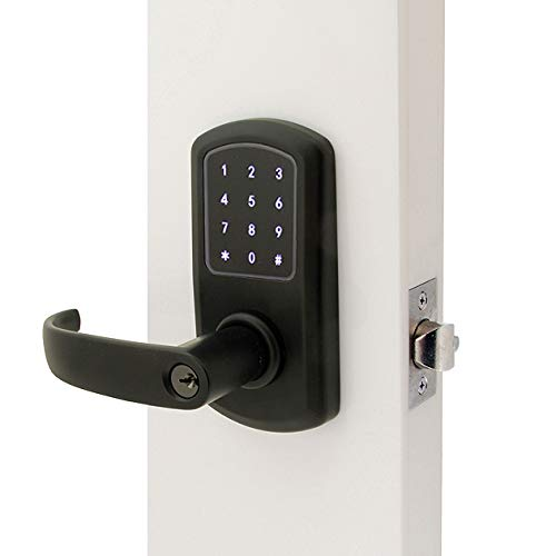 Prodigy SmartLock MaxSecure Cylindrical Commercial Grade Lock with RFID Keyless Entry (Left Hand, Flat Black)