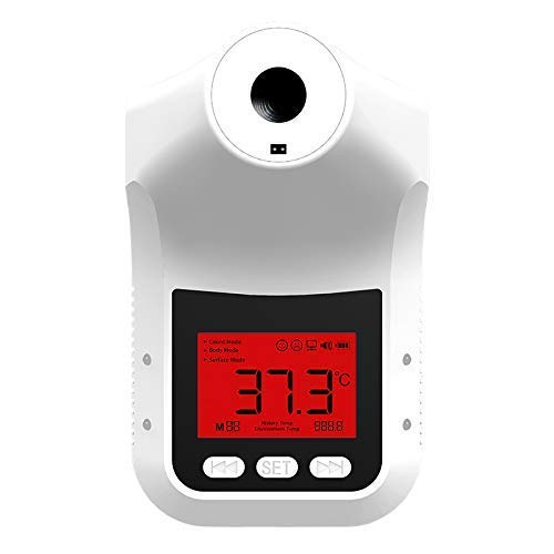 Wall-Mounted Infrared Forehead K3 Pro Thermometer with Stand - Non-Contact Instant Reading Digital Temperature Detector - Triggers Alarm When Fever Detected (K3 Pro)