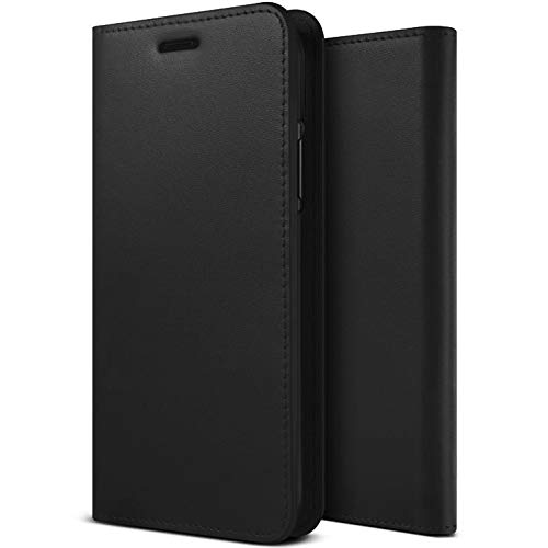 ZIZO Wallet Folio iPhone 11 Pro Max Case - Magnetic Flap Closure with Credit Card and ID Holder - Black Leather