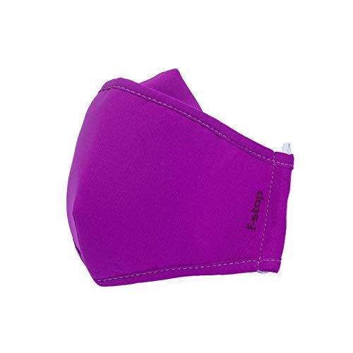 f-stop - Dyota Triple Layer Washable, Reusable Face Mask - Child Large, Purple