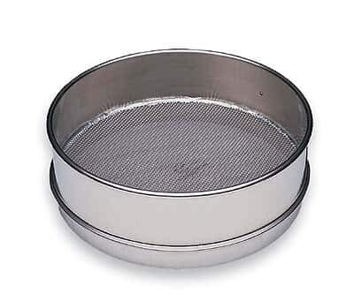 """Cole-Parmer Sieve; No 200, Full-Height, 8"""", SS/SS, NIST-Traceable Calibration Certificate"""
