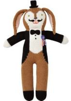 Blabla Balthazar The Bunny Mini Plush Doll - Knit Stuffed Animal for Kids. Cute, Cuddly & Soft Cotton Toy. Perfect, Forever Cherished. Eco-Friendly. Certified Safe & Non-Toxic.