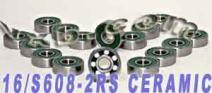 16 Roller Hockey Ceramic Bearing Sealed Ball Bearings VXB Brand