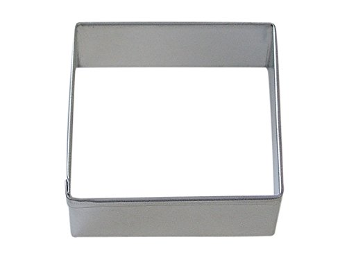 "R&M Square 2.5"" Cookie Cutter in Durable, Economical, Tinplated Steel"