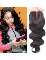 Valentines Day Gifts Aigemei Free Part Lace Closure 4x4 With Baby Hair 8A Grade Body Wave Virgin Brazilian Human Hair Lace Closure Natural Color(14 inch)