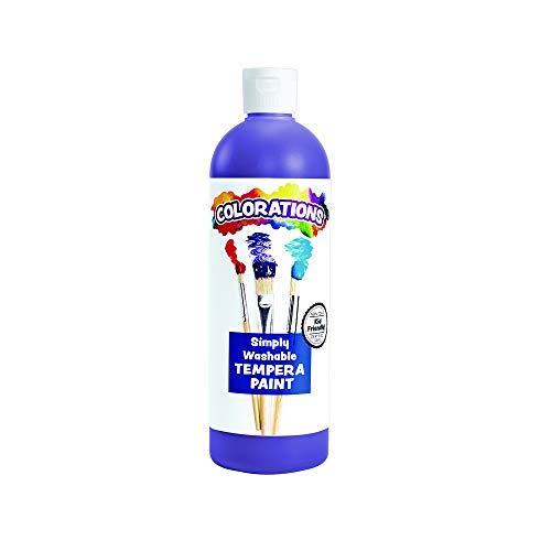 Colorations Washable Tempera Paint, 16 fl oz, Purple, Non Toxic, Vibrant, Bold, Kids Paint, Craft, Hobby, Fun, Art Supplies