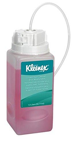 Kleenex Liquid Hand Soap with Moisturizers (11280), Pink, Floral Scent, 1.5L Under-Counter Bottles, 2 Bottles / Case