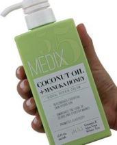Medix 5.5 Coconut Oil Cream and Manuka Honey. Moisturizing Repair cream rehydrates skin. Great for scar and stretch marks. (15oz)