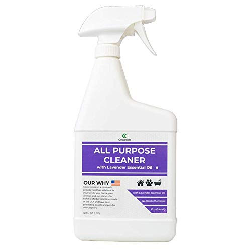Cedarcide All Purpose Natural Cleaner Spray (Lavender Quart) | Streak-Free Multi-Surface | Biodegradable | No Artificial Fragrances | Eco-Friendly | Handcrafted with Organic Essential Oils