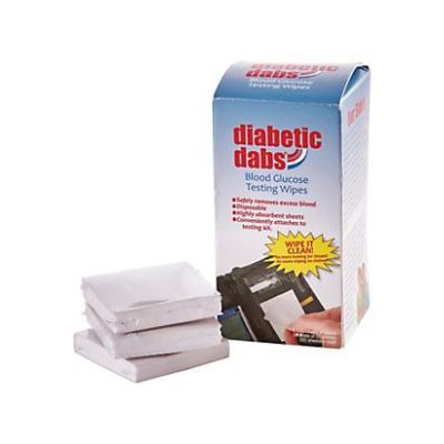Diabetic Dabs Super Absorbent Wipes, Portable, Quick Dispensing, Non-Toxic, Convenient Surface Wipes to Keep Fingers Clean and Sanitized (200 Count)