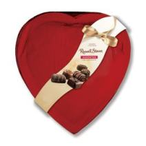 Russell Stover Red Foil Heart Box of Valentines Assorted Chocolates – 26 oz, 44 pieces