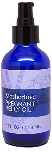 Motherlove Pregnant Belly Oil (4 oz.) Helps Prevent Stretch Marks, Soothes The Itch of Growing Skin - Moisturizing Organic Herbs for Your Tummy, Vegan, Cruelty-Free, All Natural Oil for Pregnancy