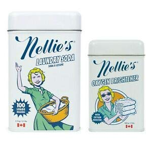 Nellie's Laundry Soda (3.3 lbs for 100 Loads) Oxygen Brightener - Cleaning Combo Package