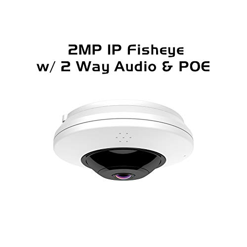 Ares Vision 2MP IP Network Fish-Eye 360 Degree Wide View CCTV Camera w/IR Night Vision, Tracking & Two Way Audio (2MP)
