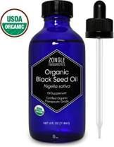 Zongle USDA Certified Organic Black Seed Oil, Unrefined Virgin, Cold Pressed, Nigella Sativa, 4 OZ