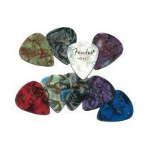 Fender 351 Premium Celluloid Guitar Picks, 12 Pack, Ocean Turquoise, Thin