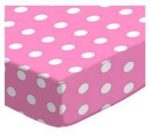 SheetWorld Fitted Crib / Toddler Sheet - Polka Dots Pink - Made In USA