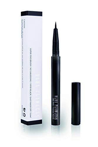 Dlux Pro- Premium Flawless Ink Liquid Eyeliner | Vivid Black Color | 0.020fl. oz | Waterproof | Oil Free | Super Fine Brush Tip | Smudgeproof | Easy Removal | Long lasting (Vivid black)