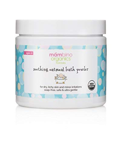 Mambino Organics Soothing Bath Treatment with Natural Colloidal Oatmeal for Treatment and Relief of Dry, Itchy 4 Ounce