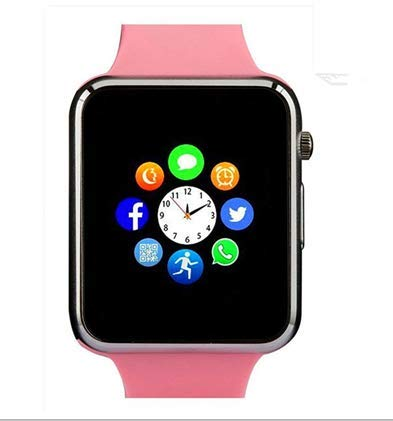 Qidoou Smart Watch Fitness Tracker,Smartwatches Compatible Android iOS Touchscreen Step Calorie Sleep Sedentary Monitor Waterproof, Call Message Music with SIM SD Slots Men Women (Pink)