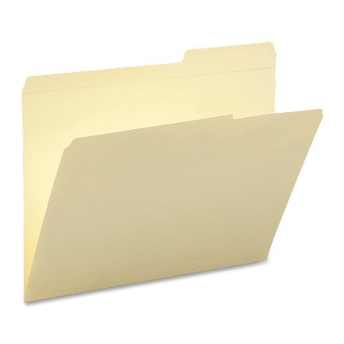 Smead File Folder, Reinforced 2/5-Cut Right Position Tab, Guide Height, Letter Size, Manila, 100 Per Box (10386)