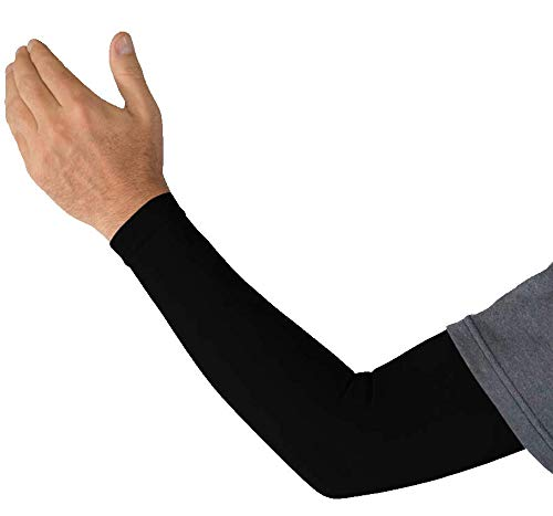 Kinship Comfort Brands®Graduated Compression Arm Sleeves Therapeutic Support for Arm Muscles for Men & Women | Moisture Wicking Fabric | UV Sun Screen | 1 & 3 Pair | Sizes S,M,L,XL)
