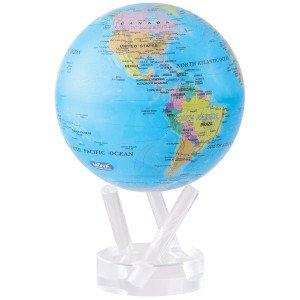 "Mova 6"" Political Map Blue Globe"