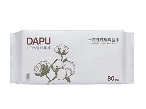 """Facial Tissues Paper Towels Toilet Paper 100% Soft Cotton Tissue, Disposable Face Towel (7.87""""×7.87"""" 80 Counts)"""