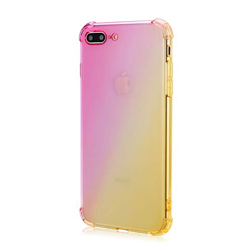 Gradient Color Case for iPhone 7 Plus, Case for iPhone 8 Plus, Matone Crystal Clear Shock Absorption Technology Bumper Soft TPU Cover