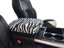 Auto Console Covers- Compatible with The Ram 1500, 2500, 3500 2015-2018 Center Console Armrest Cover Fleece - Zebra