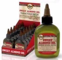 Difeel Premium Natural Hair Care Oil - Sweet Almond Oil 2.5 ounce (3 Pack)
