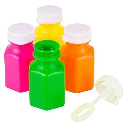 """Vlish Bulk Party Bubbles - 24 Mega Pack 2"""" Bubble Bottles with Wands - Assorted Colors - Goody Bag Stuffers, Summer Fun Toys, Birthday Party Favors"""