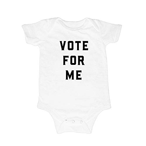 Love Bubby Bodysuit for Infants – Vote for Me (Unisex, White, 6-12M)