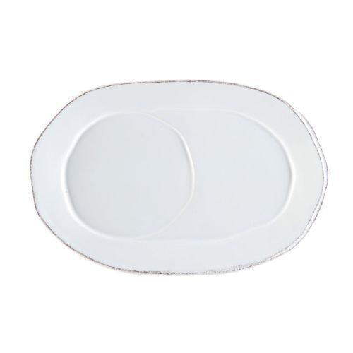 Vietri Lastra White Oval Tray