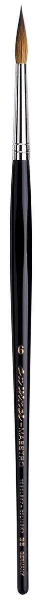 da Vinci Watercolor Series 35 Maestro Paint Brush, Round Long Taper Kolinsky Red Sable, Size 6 (35-06)