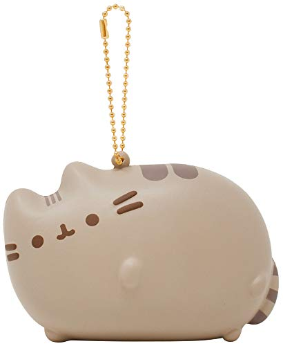 Hamee Pusheen Cat Slow Rising Squishy Toy [Full Body Series] (Gray, Sleeping, 3.75 Inch) [Easter Basket Stuffers, Party Favors for Kids or Stress Relief Toys for Adults]