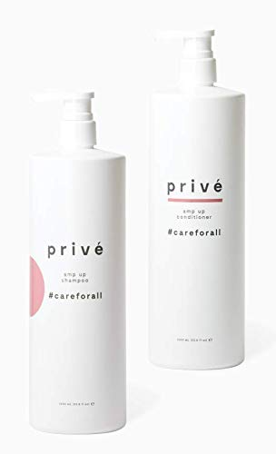 Privé Amp Up Shampoo and Conditioner Kit – Clarifying Shampoo & Volumizing Conditioner – Purifying Shampoo & Weightless Conditioner for Oily, Fine, Thin Hair – Natural Ingredients, 33.8 oz each