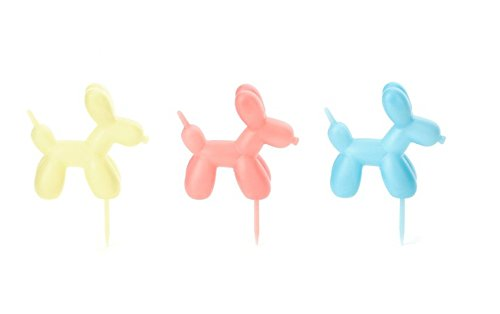 Kikkerland Balloon Dog Party Pick, Multicolor, Set of 9