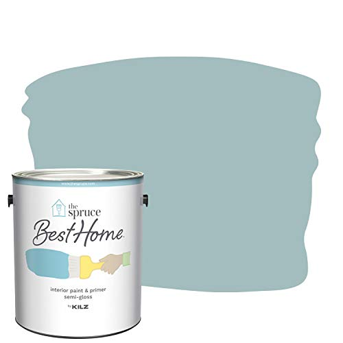 The Spruce Best Home by KILZ 15121101 Interior Semi-Gloss Paint & Primer in One, 1 Gallon, SPR-12 Breezy Beach