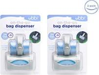 Ubbi On The Go Gray Bag Dispenser Baby Gifts, Lavender Scented, Set of 2