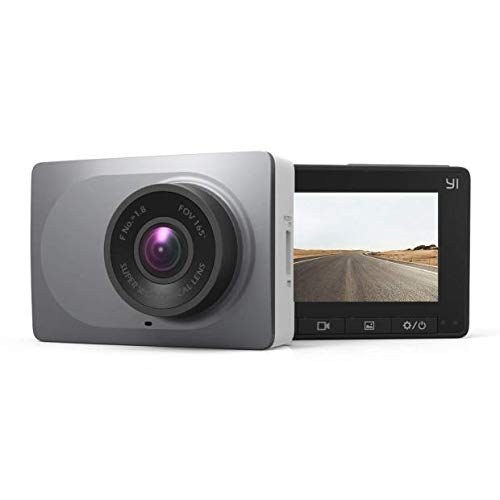 """YI Smart Dash Cam, 2.7"""" Screen 1080P60 Full HD 165 Wide Angle Front Dashboard Camera Car DVR Vehicle Recorder with ADAS, G-Sensor, Phone APP, WDR, Loop Recording - Grey"""