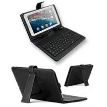 """inDigi 7.0"""" Tablet PC Phablet Protective Case Cover Full Keyboard Stand Black PU Leather Touch Screen Tablet Accessories"""