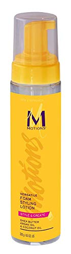 Motions Style and Create Versatile Foam Styling Lotion - For Use on All Hair Types, Lightweight Formula, Contains Shea Butter, Argan Oil, & Coconut Oil, 8.5 oz